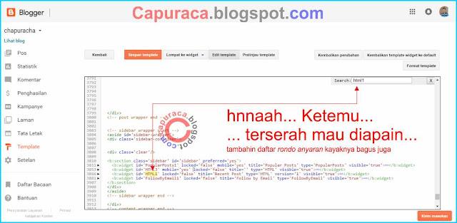 Cara mudah mengetahui ID Widget Blogger,capuraca.blogspot.com,