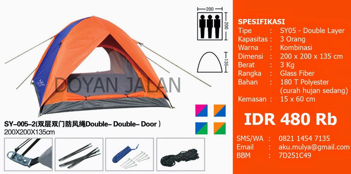 Tenda Dome Murah Kapasitas 3 Orang