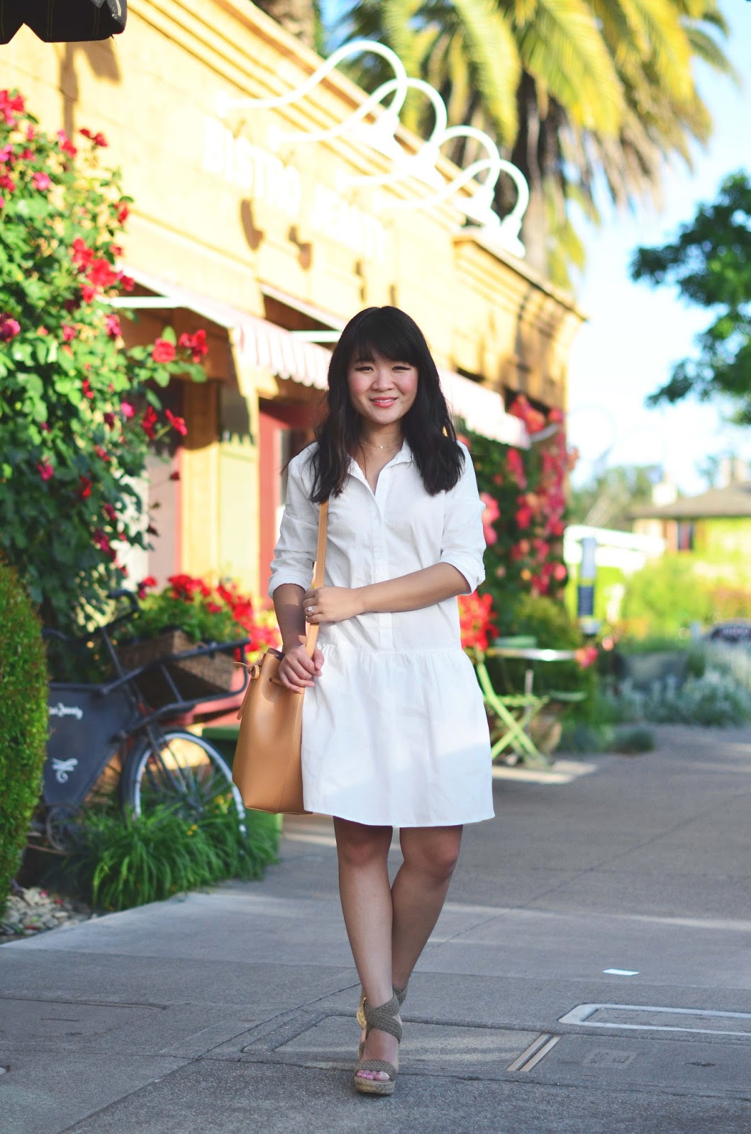 napa spring outfit inspiration white dress splendid damsel