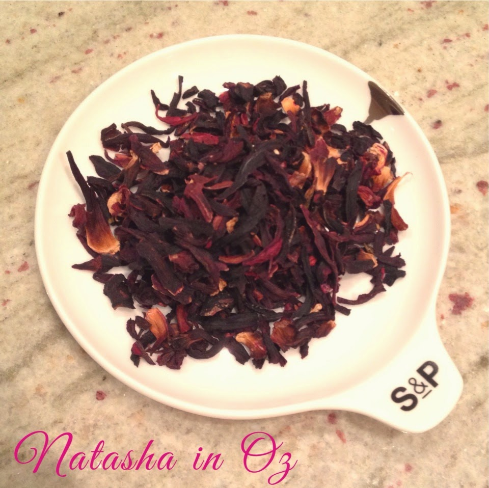 Tea, Tea Time with Natasha in Oz, hibiscus tea, blood pressure, hypertension, Hibiscus Iced Tea, health and wellbeing, Natasha In Oz, herbal tea, tisane