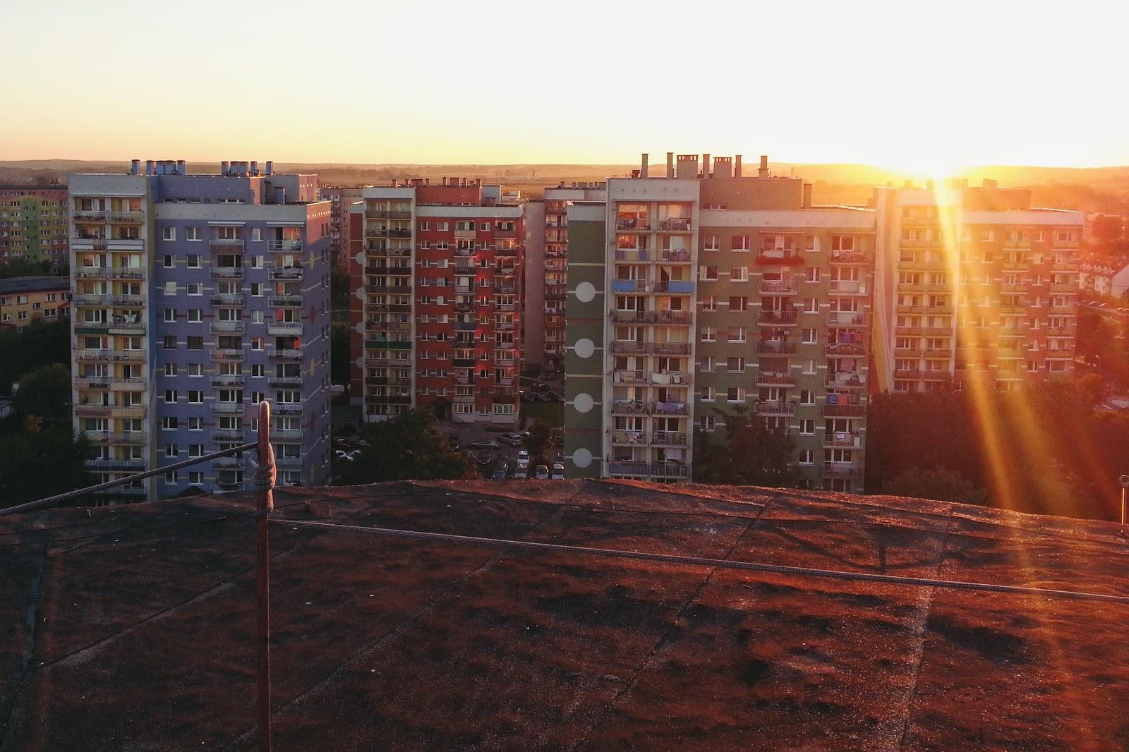 Lubin - zachód słońca na kielichu