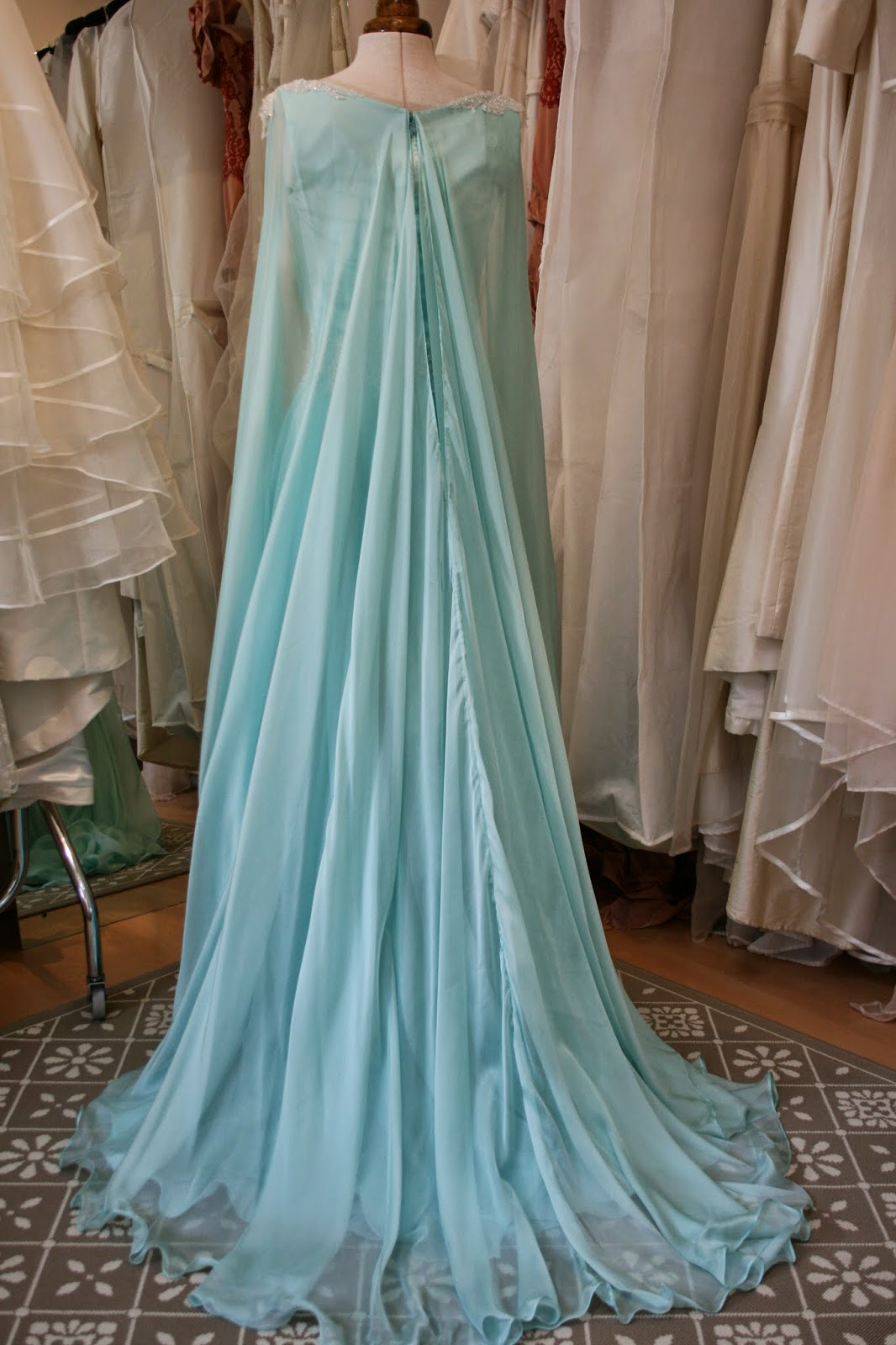 Unusual, icey, Snow-Queen-ish Winter Wedding Dress!