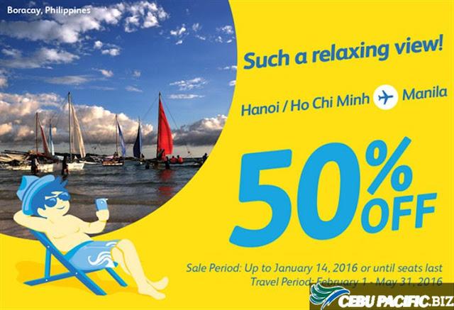 Hãng hàng không Cebu Pacific Giảm 50% giá vé đi Manila PhilippineS
