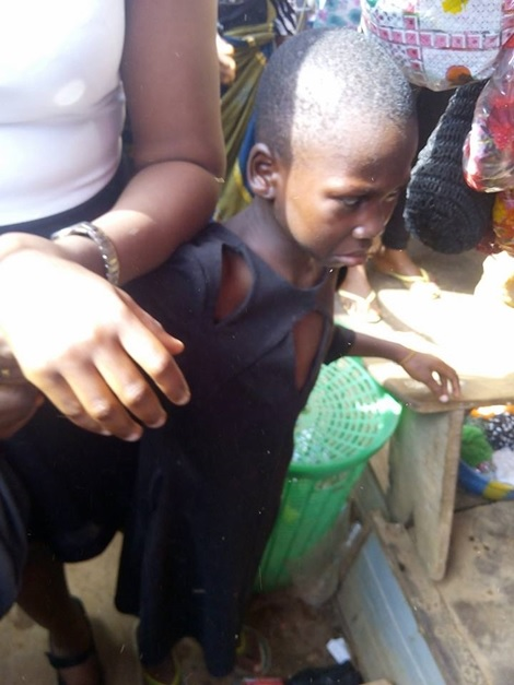 Angry Mob Nearly Lynch Woman Who Publicly Abused Her Maid in Onitsha (Photos)