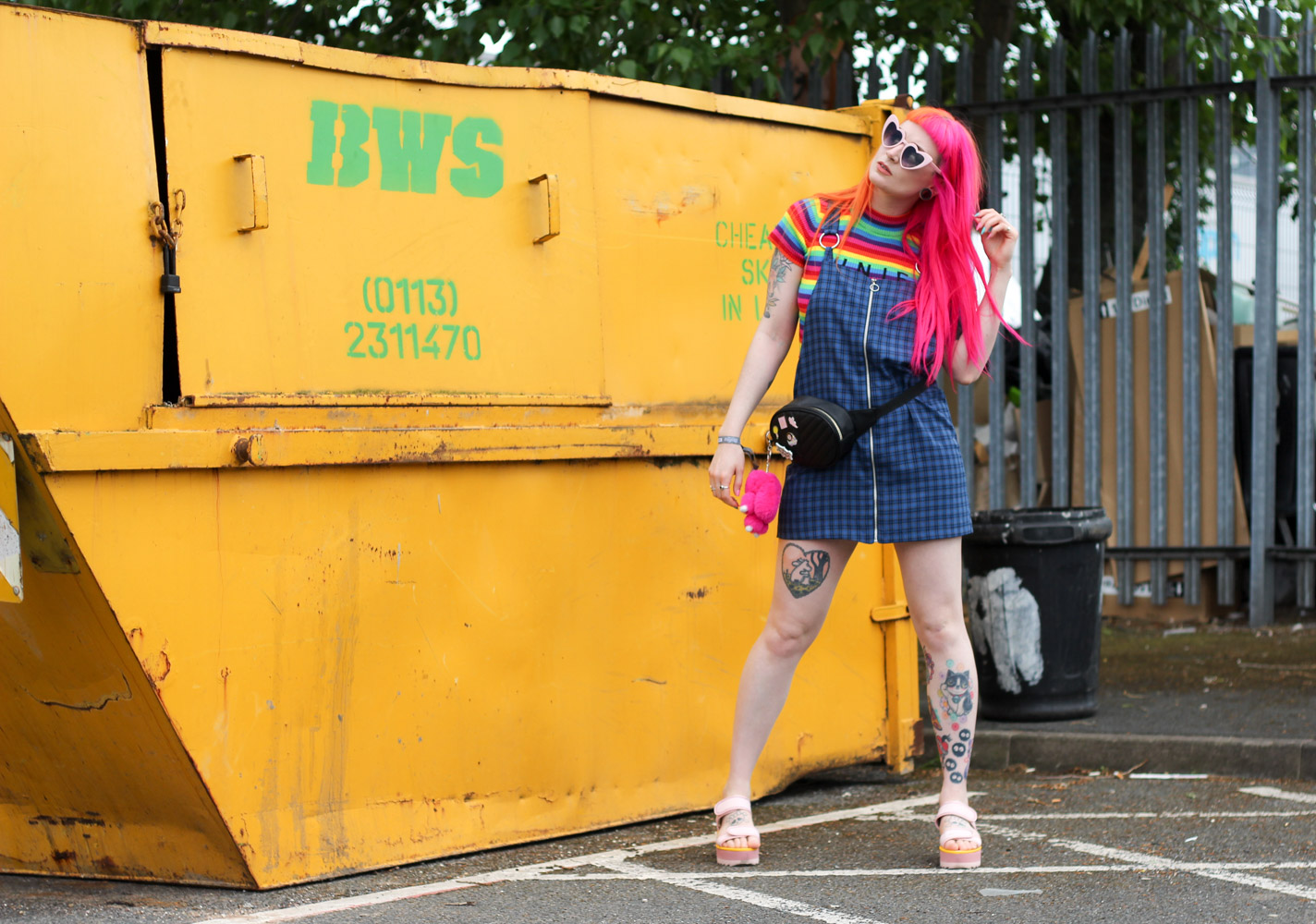 Alternative Fashion Blogger Foxxtailz styles the ragged preist pinafore dress for Attitude Clothing