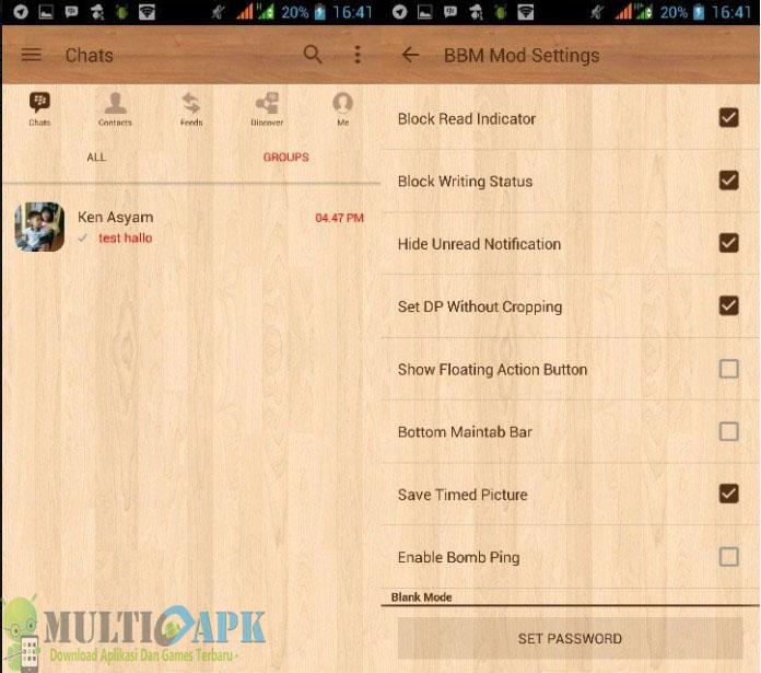 BBM Mod Wood Apk 3.3.8.74 Terbaru