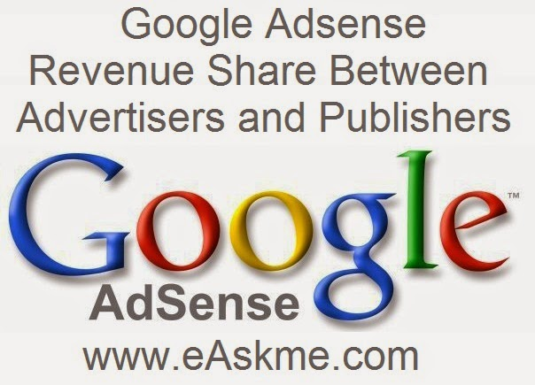 Google Adsense  Revenue Share Between Advertisers and Publishers : eAskme