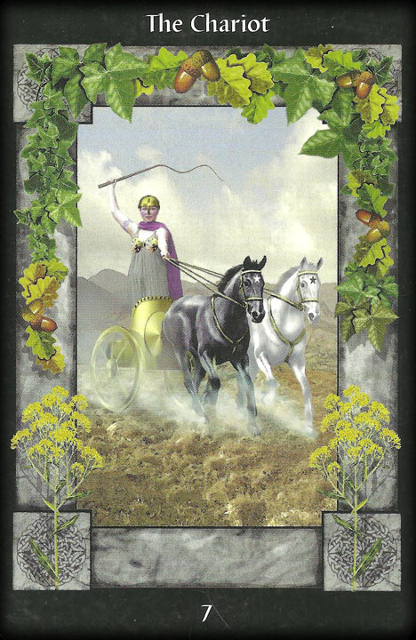 The Chariot. Image from Celtic Tarot Card Meanings: symbols of the ancient Celts http://www.dnfrost.com/2017/03/celtic-tarot-card-meanings-inspired.html An inspired contribution by D.N.Frost @DNFrost13 Part 5 of a series.