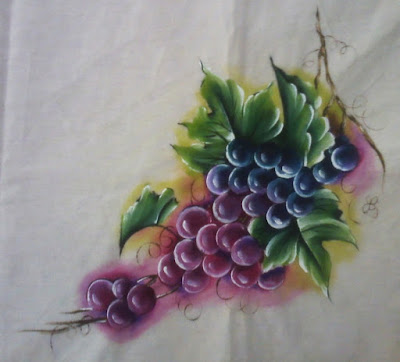 Pintura em tecido Jogo de cozinha