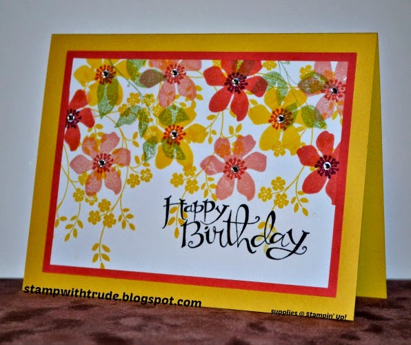 trude thoman, stampwithtrude.blogspot.com, summer silhouettes, thoughts and prayers, Sassy Salutations, stampin up, birthday card