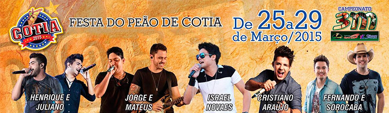 Shows festa peão Cotia 2015