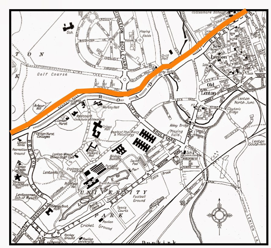 Priory Island Nottingham Map
