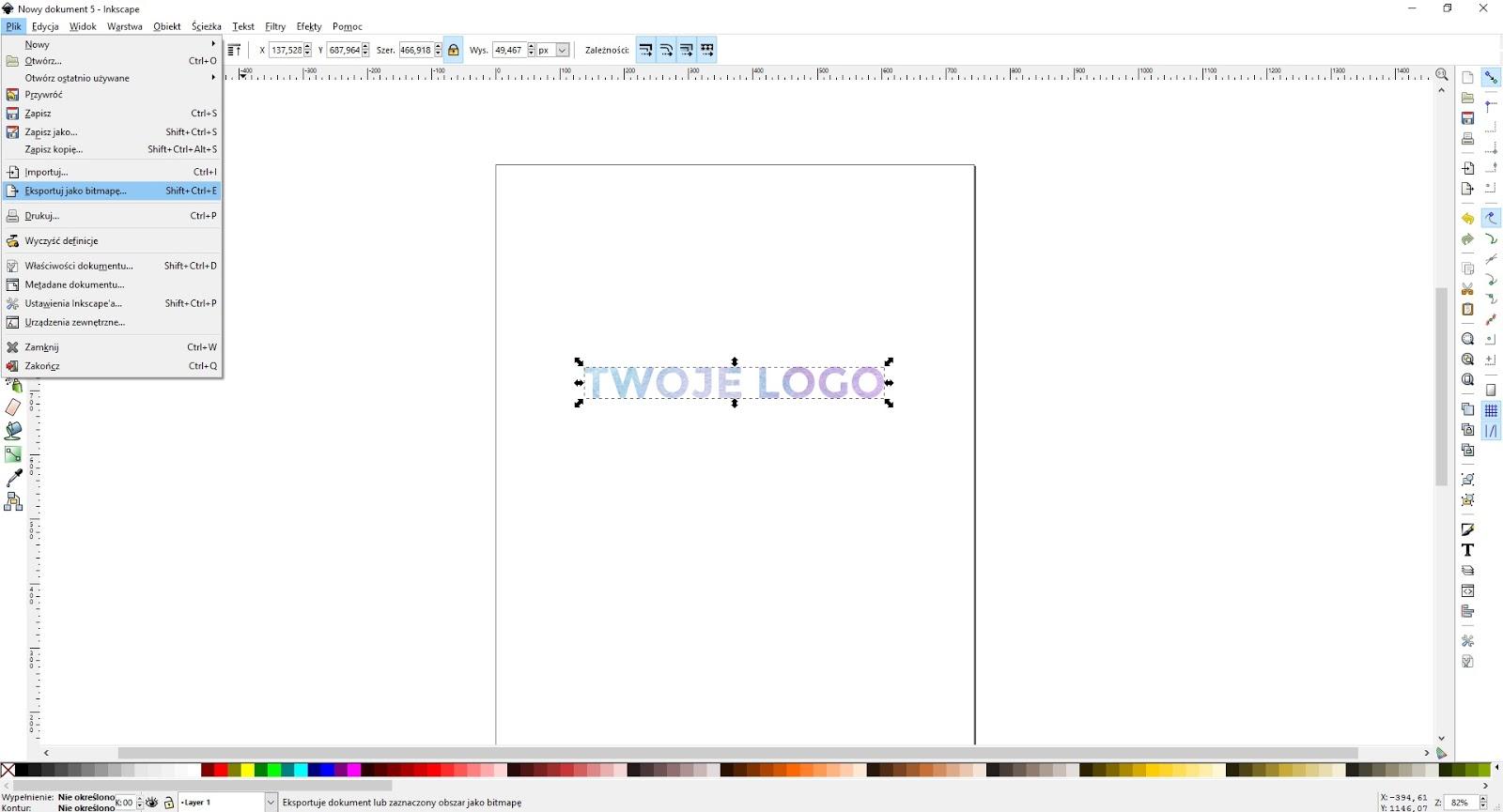 Jak zrobić prosty nagłówek (logo) - napis wycięty z tła