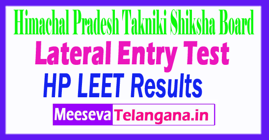 Himachal Pradesh Lateral Entry Test LEET Result 2018 Himachal Pradesh TSB Results
