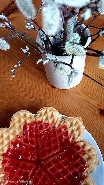 Mandatory waffel at  Stavsro Cafeteria in Norway