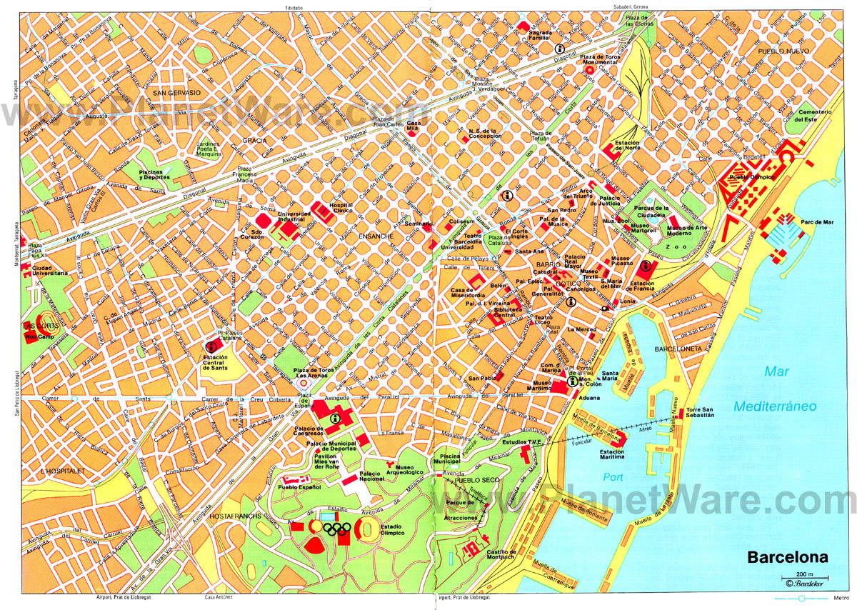 mapa de barcelona espanha Mapas de Barcelona   Espanha | MapasBlog mapa de barcelona espanha