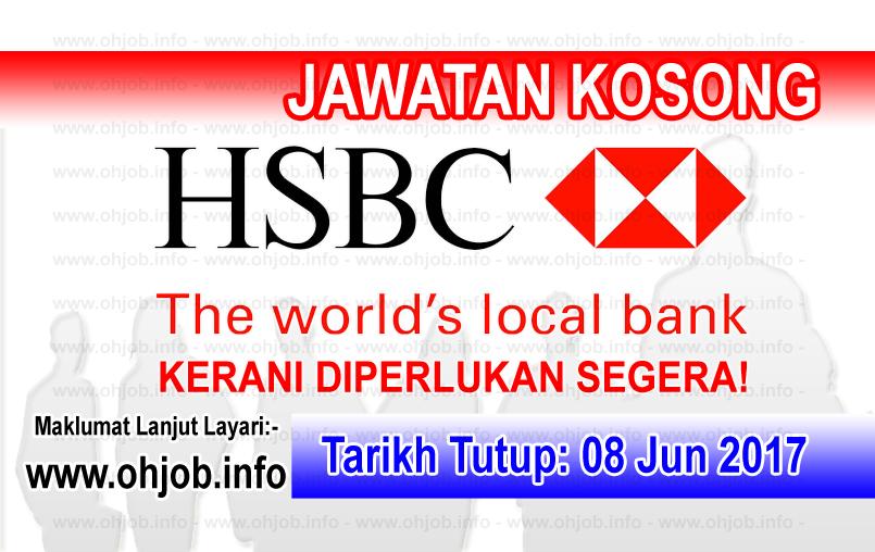 Jawatan Kerja Kosong HSBC Bank Malaysia logo www.ohjob.info jun 2017