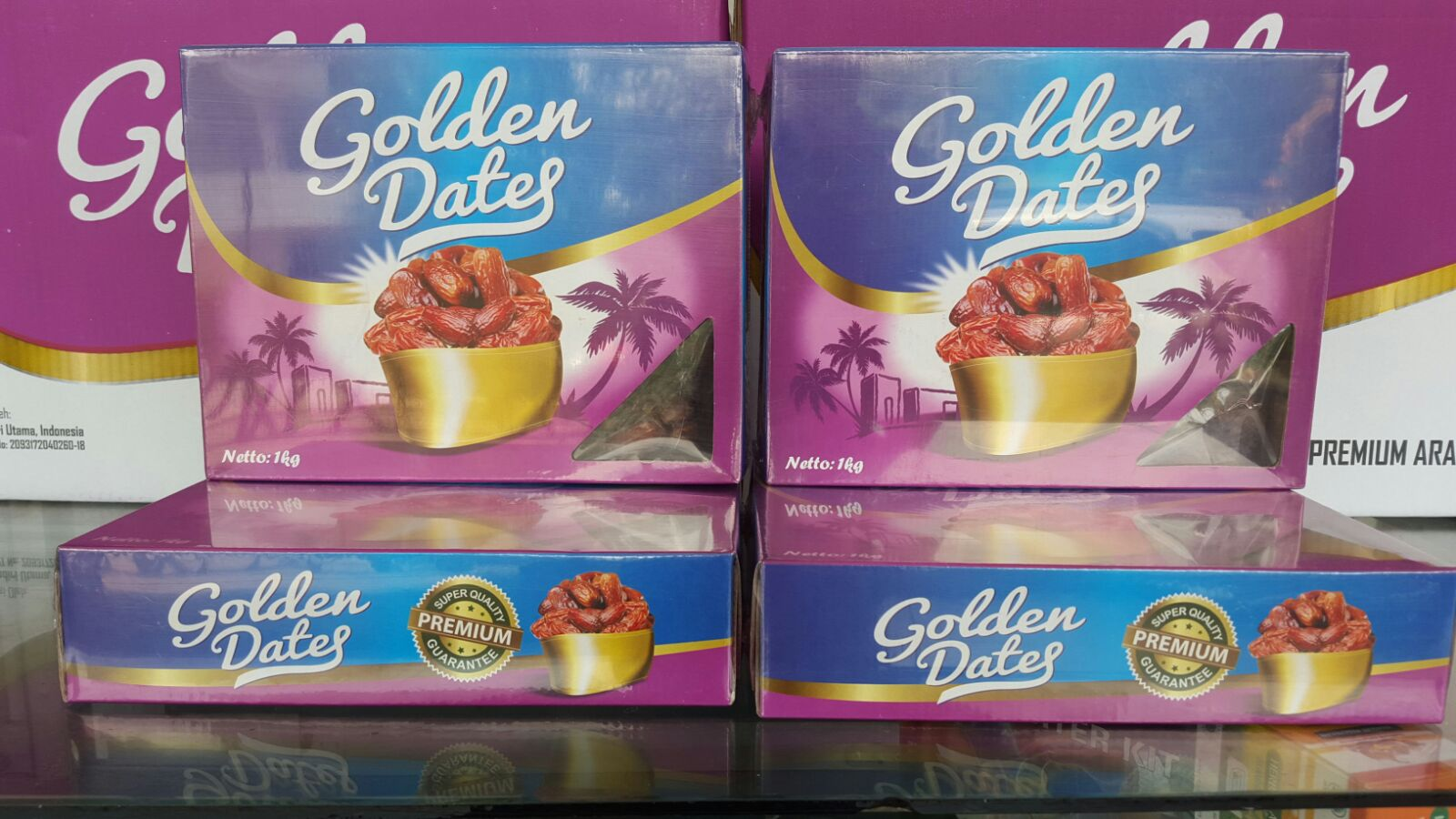 2 Paket Kurma Dates Golden Fruit Premium Emirates 1kg Khalas Hikmah Jual Grosir Harga Termurah Distributor Date Crown Palm Buah
