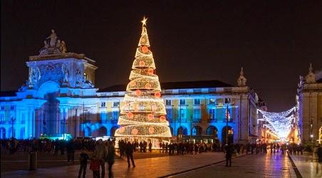 Lisboa durante o Natal e Ano Novo
