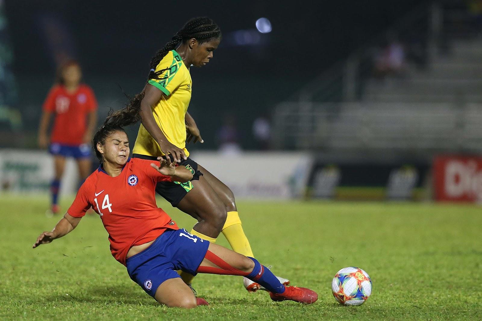 Jamaica y Chile en partido amistoso femenino, 3 de marzo de 2019