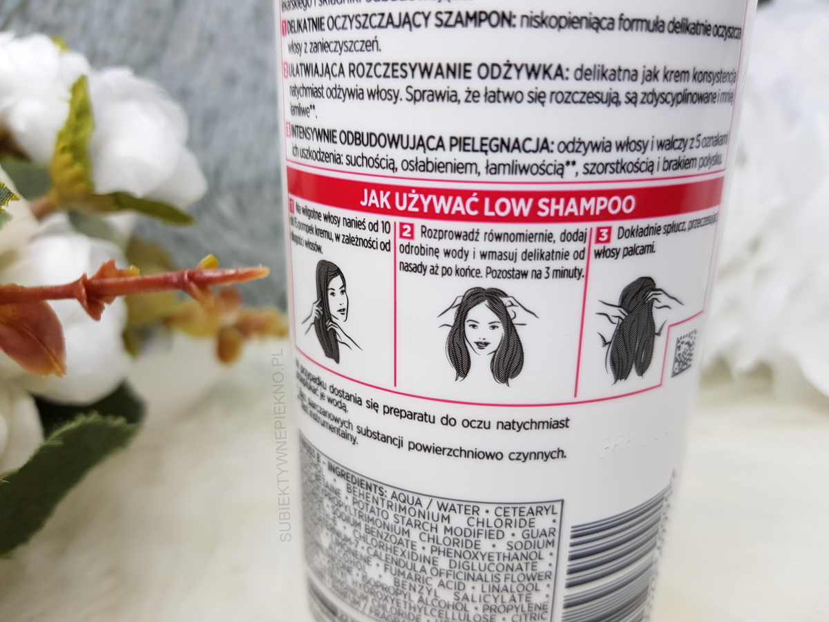 Krem myjący 3w1 LOW SHAMPOO ELSEVE TOTAL REPAIR 5 opinie