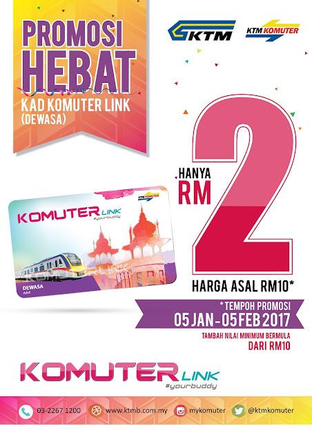 KTM Berhad Malaysia Kad Komuter Link Promo