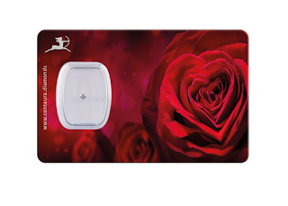 Diamant Geschenkkarte - Red Rose heart