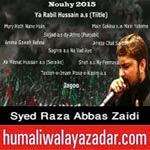 http://www.humaliwalayazadar.com/2014/10/raza-abbas-zaidi-nohay-2015.html