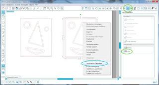 """Screenshot Silhouette Studio mit """"Pfad lösen""""-Methoden"""