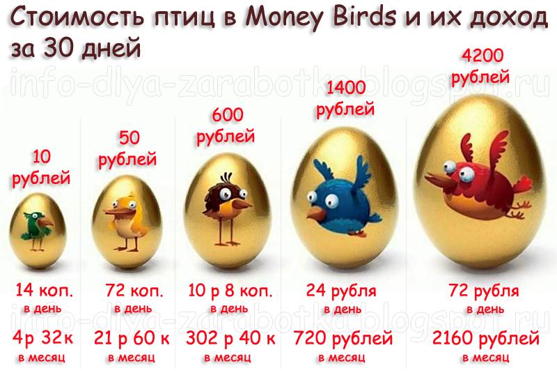 birds заработок интернете в money