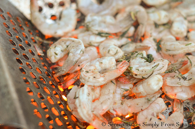 Grill Lemon Garlic Herb Shrimp from Serena Bakes Simply From Scratch.