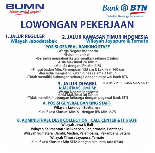 Lowongan Kerja Bank BTN - Program Rekrutmen Bersama BUMN ...