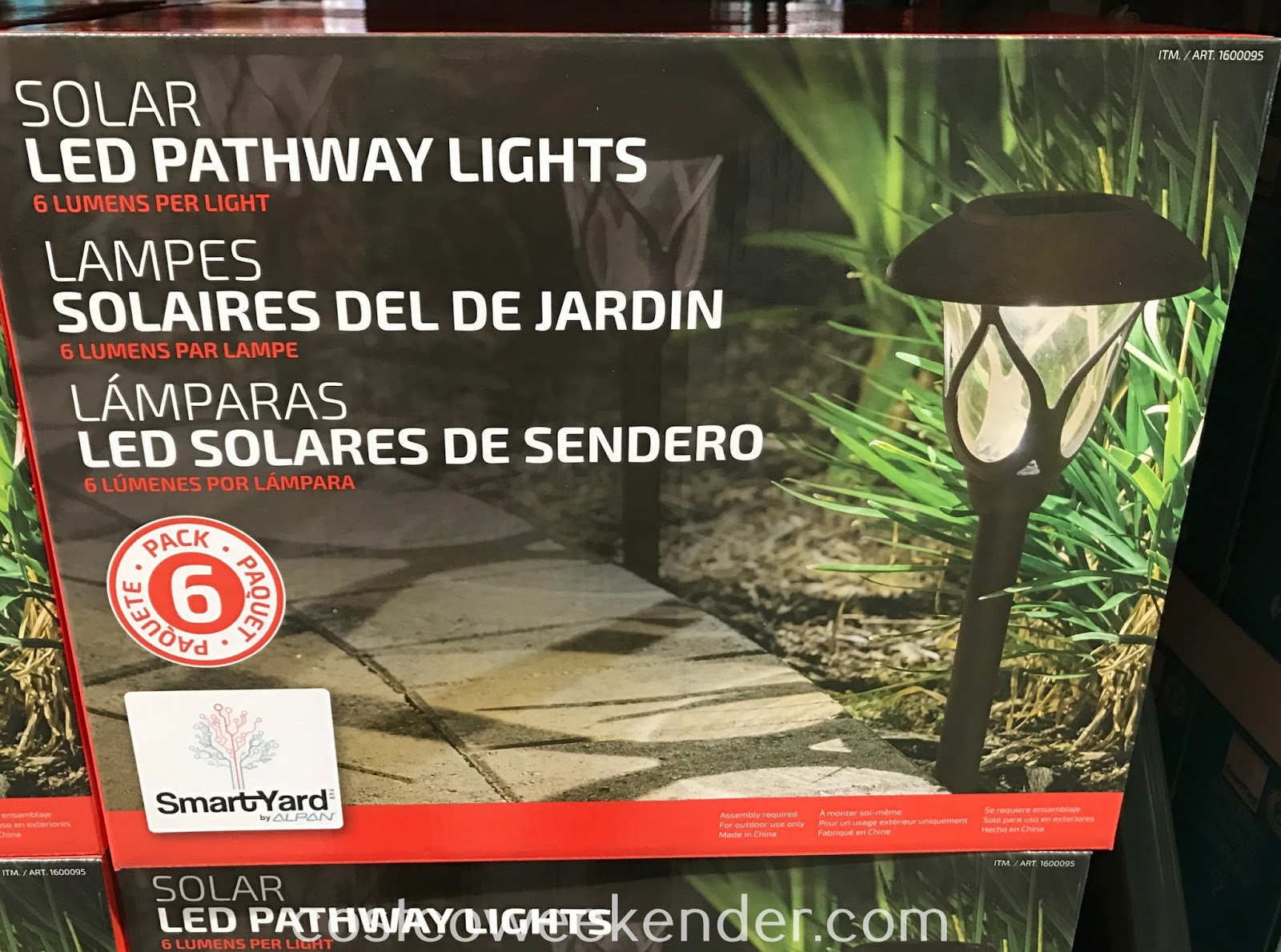 Highlight parts of your yard with Alpan SmartYard Solar LED Pathway Lights