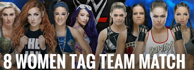 8 women tag team match at wrestlemania 36 !!
