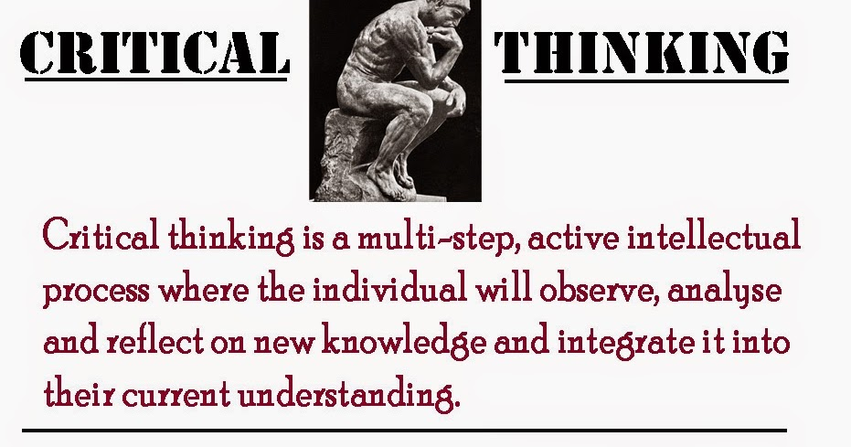 Cognitive skills in critical thinking ability to judge