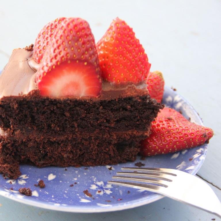 Pretty Damn Good Vegan Chocolate Cake