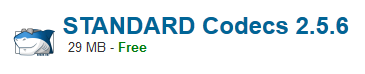 STANDARD Codecs 2.5.6 Free Download