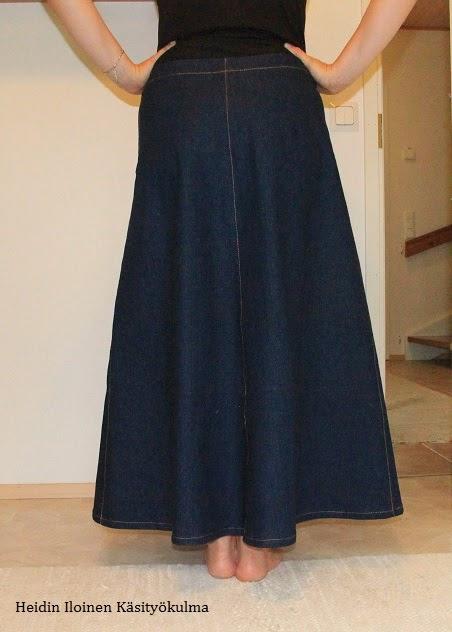 hieno tyyli uusi saapuu näyttää hyvältä kengät myynti Heidin Iloinen Käsityökulma: Pitkä farkkuhame