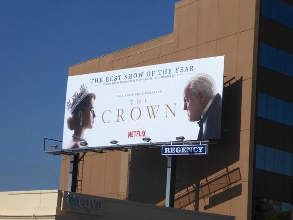 The Crown season 1 Emmy FYC billboard