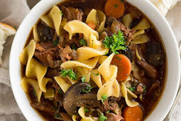 CROCK POT BEEF AND NOODLE SOUP