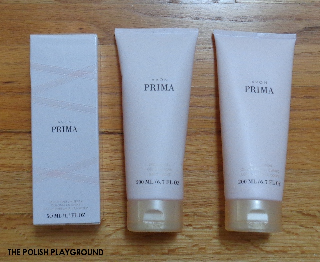 Avon Prima Eau De Parfum, Avon Prima Body Lotion, Avon Prima Shower Gel