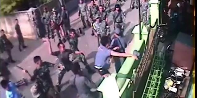 Rekaman CCTV aksi brutal TNI