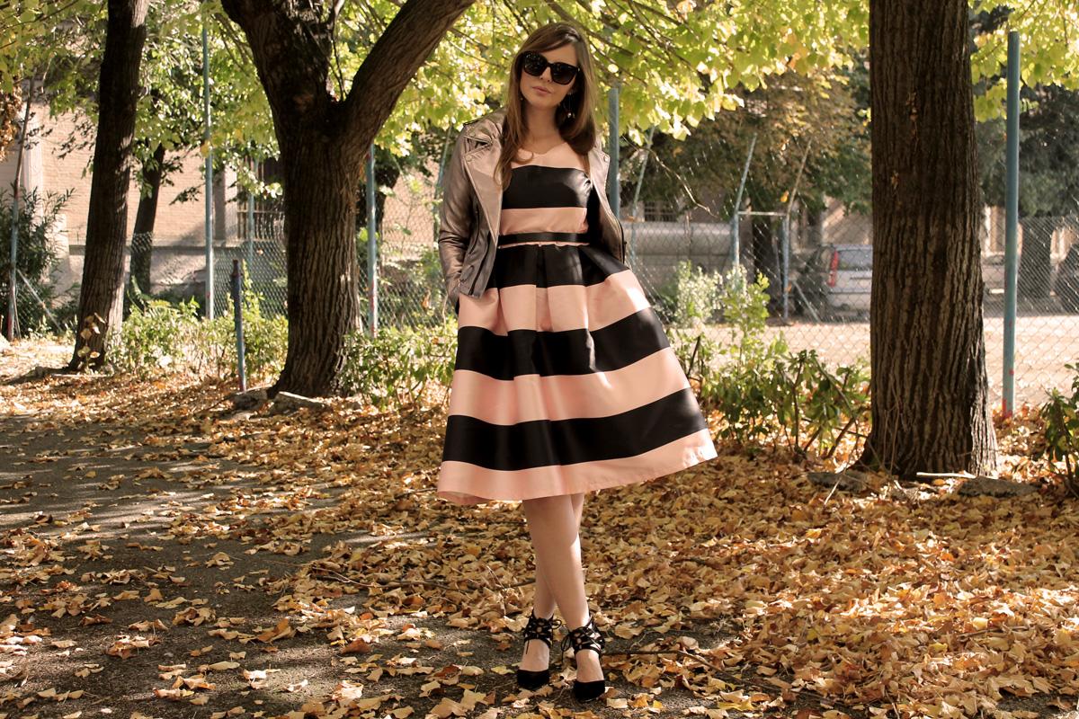 abito a righe nero rosa atlantic pacific style