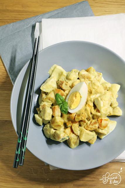 Curry patates douces oeufs Crème de coco