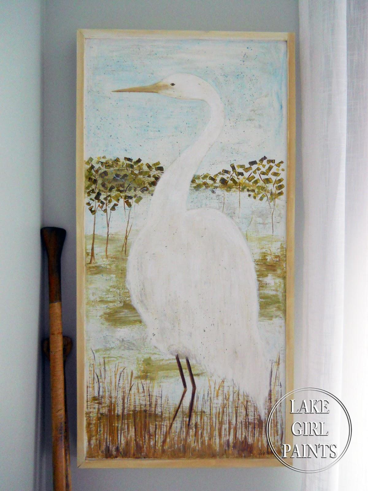 lake girl paints: painting heron art