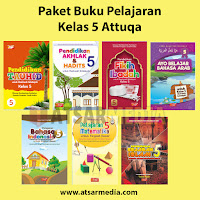 Paket Buku Pelajaran Kelas 5 Attuqa Untuk SD / MI