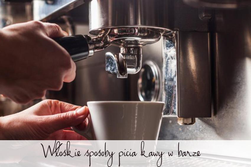 Włoskie sposoby picia kawy w barze.