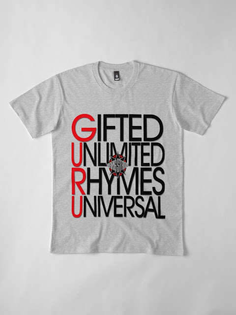 GIFTED UNLIMITED RHYMES UNIVERSAL TSHIRT GANG STARR