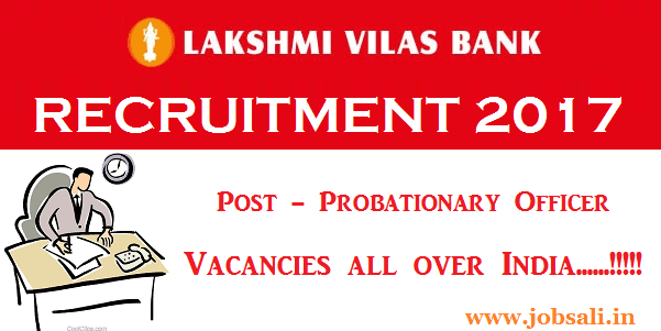 lakshmi vilas bank careers, lakshmi vilas bank po notification 2017, Latest bank po jobs 2017