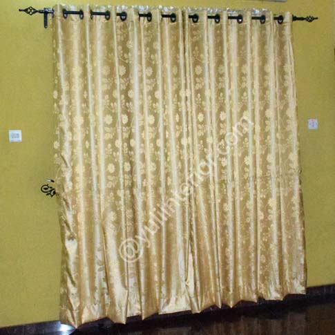 Gold Living Room, Eyelet Curtains, in Port Harcourt Nigeria